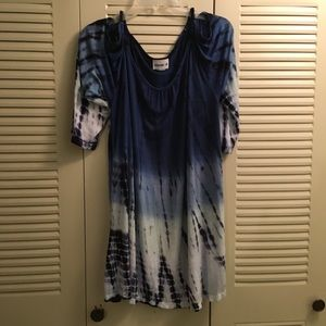 Other - Blue tie dye swimsuit coverup